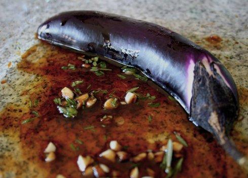 eggplant in marinade